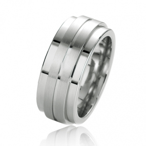 Alliance Argent et Plaqu� or diamant Marie 9 mm