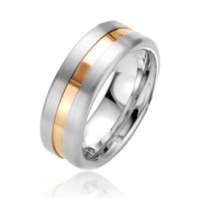Alliance Argent et Plaqu� or  Ashley 7.5 mm