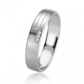 Alliance Argent  925 diamant Margot 4.5 mm
