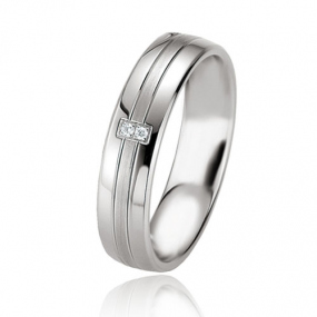 Alliance Argent  925 diamant La�sa 5 mm