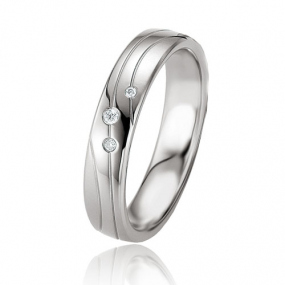Alliance Argent  925 diamant Salome 4.5 mm
