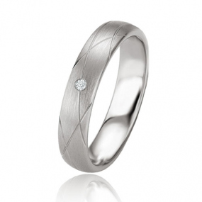 Alliance Argent  925 diamant Ad�le 4.5 mm