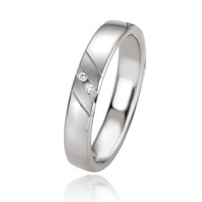 Alliance Argent  925 diamant Cl�a 4 mm