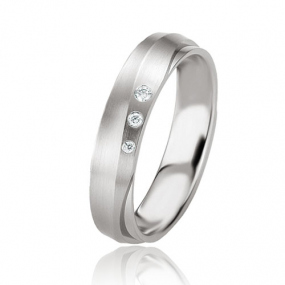 Alliance Argent  925 diamant Lucie 4.5 mm