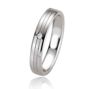 Alliance Argent  925 diamant Maelle 4 mm