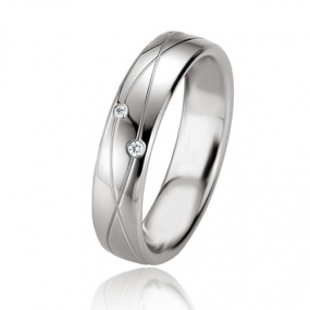 Alliance Argent  925 diamant Lurilla 5 mm
