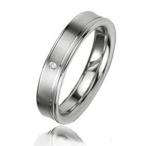 Alliance Argent  925 diamant Ang�lina 4.5 mm