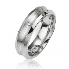 Alliance Argent  925 diamant �lisabelle 6 mm