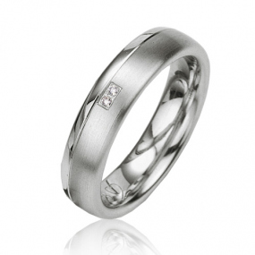 Alliance Argent  925 diamant Anastasia 5 mm
