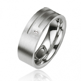 Alliance Argent  925 diamant Adrielle 7 mm