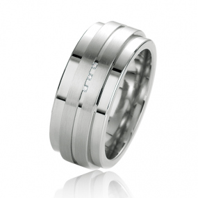Alliance Argent  925 diamant Debora 9 mm