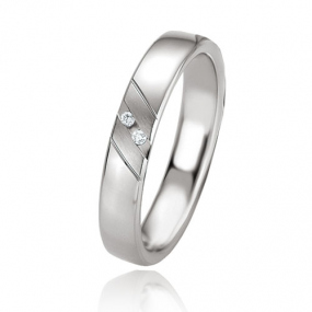 Alliance argent diamant large de 4 mm Cl�a - 08085