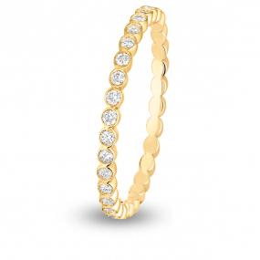 Alliance diamant demi tour ELDA FOREVER Or Jaune - 0.16 ct - Envoutante