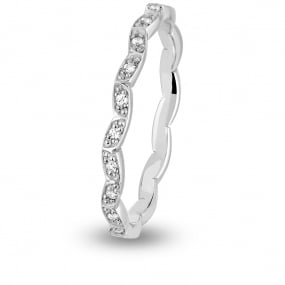 Alliance diamant Tour Complet HITA FOREVER Platine 950 - 0.11 ct - Setsuko
