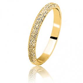 Alliance Diamanteka or jaune large de 2.5 mm Or Jaune Eleonora