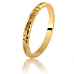 Alliance Sumba large de 2 mm en or jaune