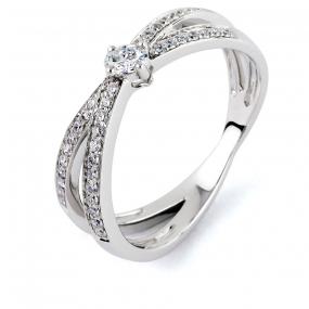 Bague diamant Sweet Paris 0.3 ct Estelle- R8666
