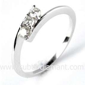 Bague or 3 diamants 0.24 ct Shanna