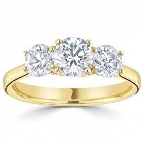 Bague or et diamant trilogie 0.57 ct H�l�ne