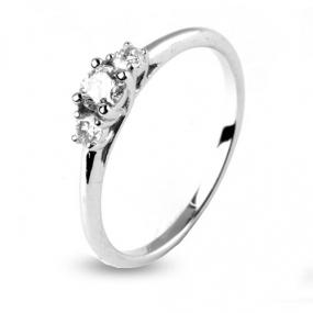 Bague trilogie diamant 0.17 ct Eleonora