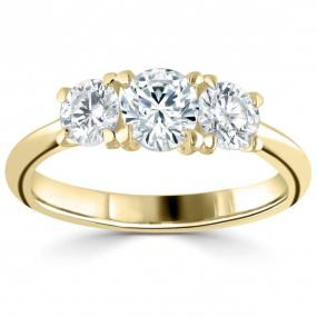 Bague trilogie diamant et or blanc