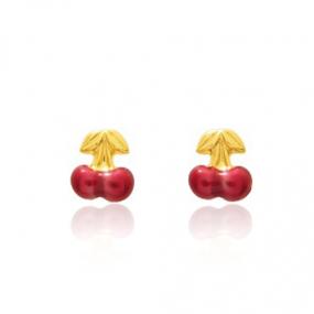 Boucles d'oreilles Cerise Or Jaune Kimmy - 650097