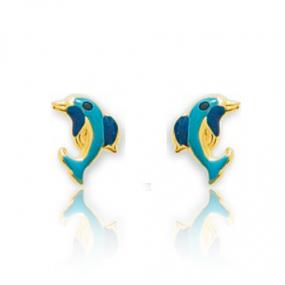 Boucles d'oreilles Dauphin Or Jaune Delphine - 650089