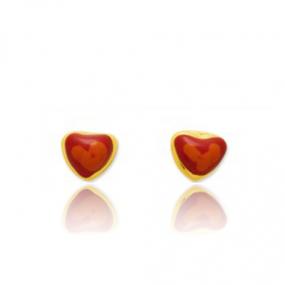 Boucles d'oreilles C�ur Or Jaune Anastasia