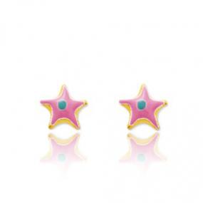Boucles d'oreilles Etoile de mer Or Jaune Ariella
