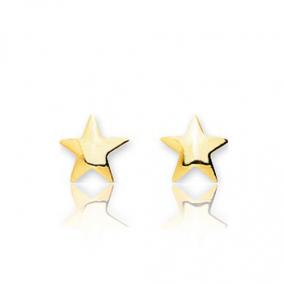 Boucles d'oreilles Etoile Or Jaune Alessandra