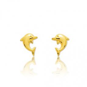 Boucles d'oreilles Dauphin Or Jaune Thalicia