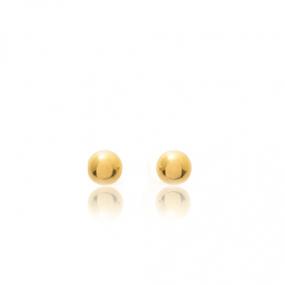 Boucles d'oreilles Sph�re Or Jaune Yuliana