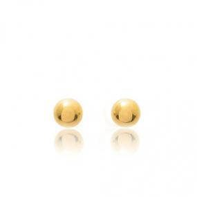 Boucles d'oreilles Sph�re Or Jaune Adrienne