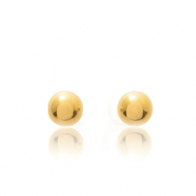 Boucles d'oreilles Sph�re Or Jaune Ana�lle