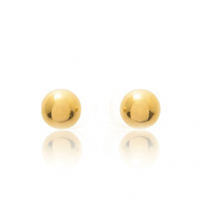 Boucles d'oreilles Sph�re Or Jaune Aur�lia