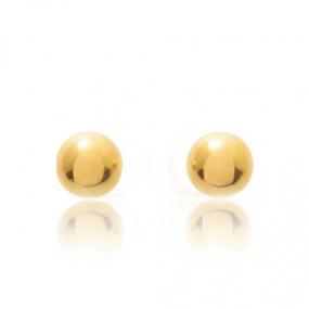 Boucles d'oreilles Sph�re Or Jaune Clarisse