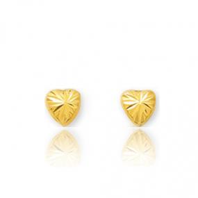Boucles d'oreilles C�ur Or Jaune Camille