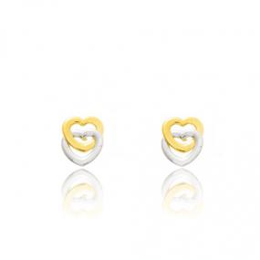 Boucles d'oreilles C�ur 2 Ors Emilie