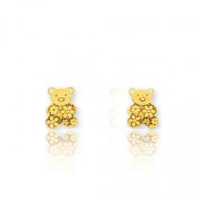 Boucles d'oreilles Ourson Or Jaune Eleonora