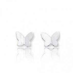 Boucles d'oreilles Papillon Or Blanc Cristina