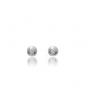 Boucles d'oreilles Sph�re Or Blanc Cocoon