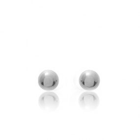 Boucles d'oreilles Sph�re Or Blanc Alicia