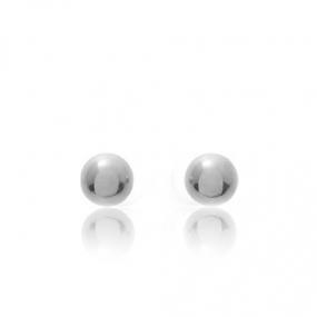 Boucles d'oreilles Sph�re Or Blanc Marina