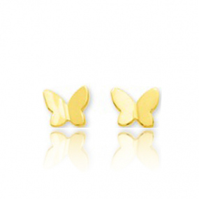 Boucles d'oreilles Papillon Or Blanc Mary