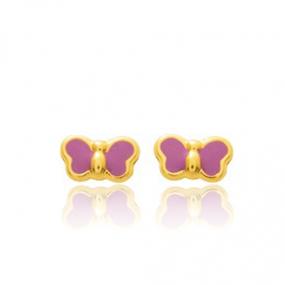 Boucles d'oreilles Papillon Or Jaune Ocella