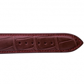 Bracelet Crocodile Homme de couleur Bordeaux -Dalia - 18614-08