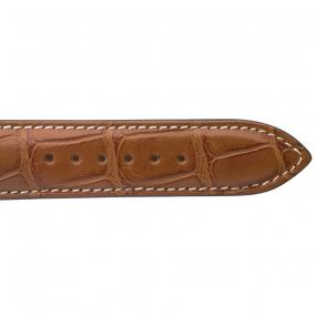 Bracelet Crocodile Homme de couleur Cognac -Clémentine - 18614E-40