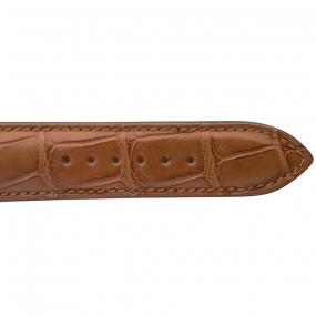 Bracelet Crocodile Homme de couleur Cognac -Dorothée - 18614-40