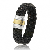 Bracelet  en Cable cuir et or Rolianne