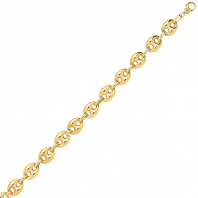 Bracelet en or 9 carats Grain de Café 5 mm - 4.9g Lauriane